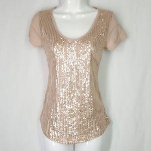 LOFT Tops - Ann Taylor Loft blouse, sequenced top, size Xsmall